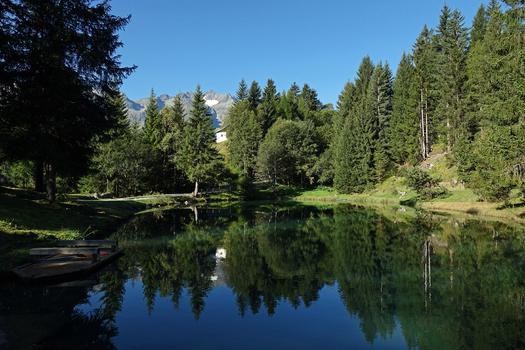 der Egg-Weiher auf ca 1100m....     (Strengen am Arlberg)
