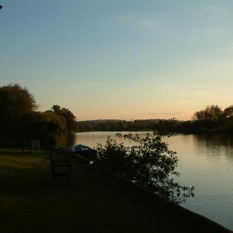 Themse in der Abendsonne