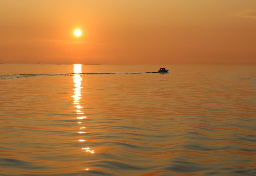 Das letzte Boot des Tages