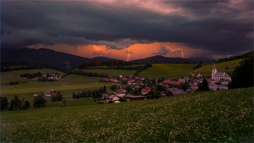Thunderstorm in Austria