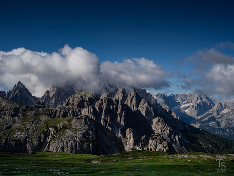 Blick Richtung Cardinispitze Dolomiten