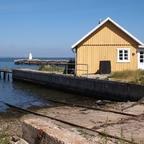 Slipanlage am Hafen in Bogense auf der Insel Fünen, Dänemark
