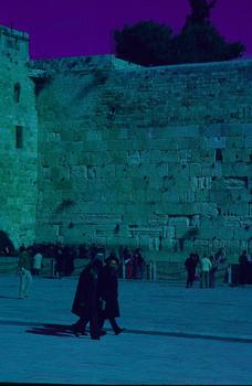 DIE KLAGEMAUER IN JERUSALEM - ISRAEL - VOR CA. 50 JAHREN
