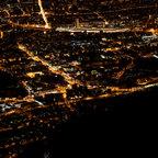 Nacht Panorama von Salzburg Stadt