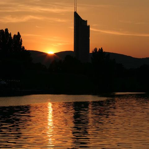 Sonnenuntergang+Millennium Tower