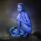 guapa azul