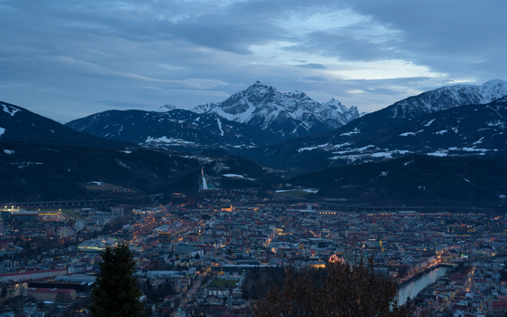 Innsbruck zur blauen Stunde