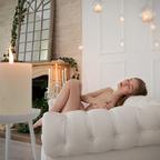 sensual in the sofa