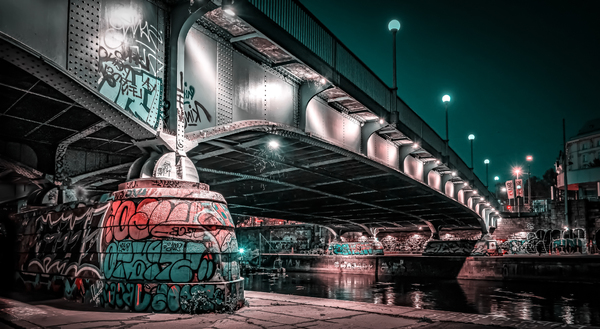 Abends am Donaukanal