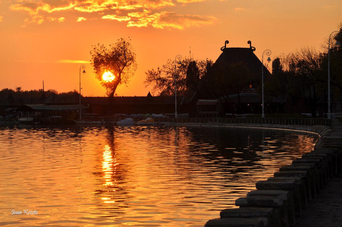 Abend am Palic-see