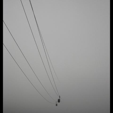 Seilbahn in den Nebel