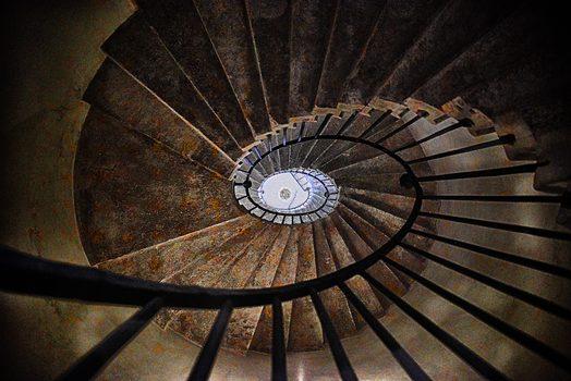 Wendeltreppe in einem alten, venezianischen Haus