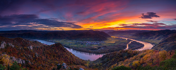 Sonnenuntergang auf der Dürnsteiner Kanzel