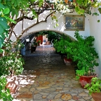 Laubengang des Klosters Panagia Theotokos tis Paleokastritsas - Korfu