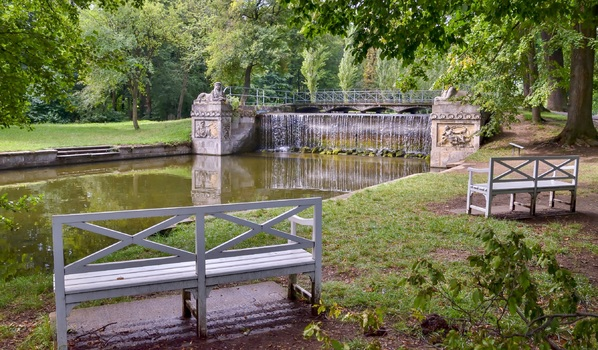 Wasserfall im Schlosspark Laxenburg