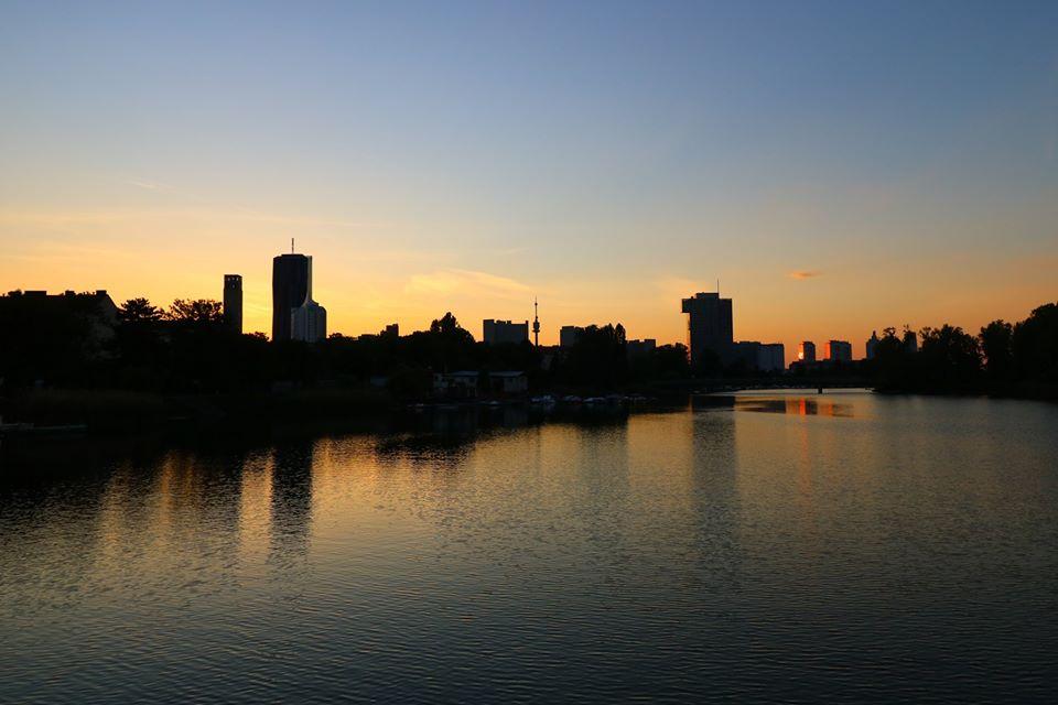 Abendstimmung an der Alten Donau