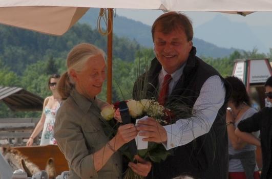 Jane Goodall und Michael Aufhauser