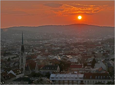 Wien, Sonnenuntergang
