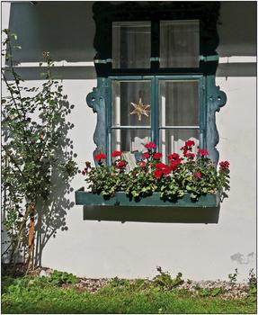 Fenster eines Forsthauses