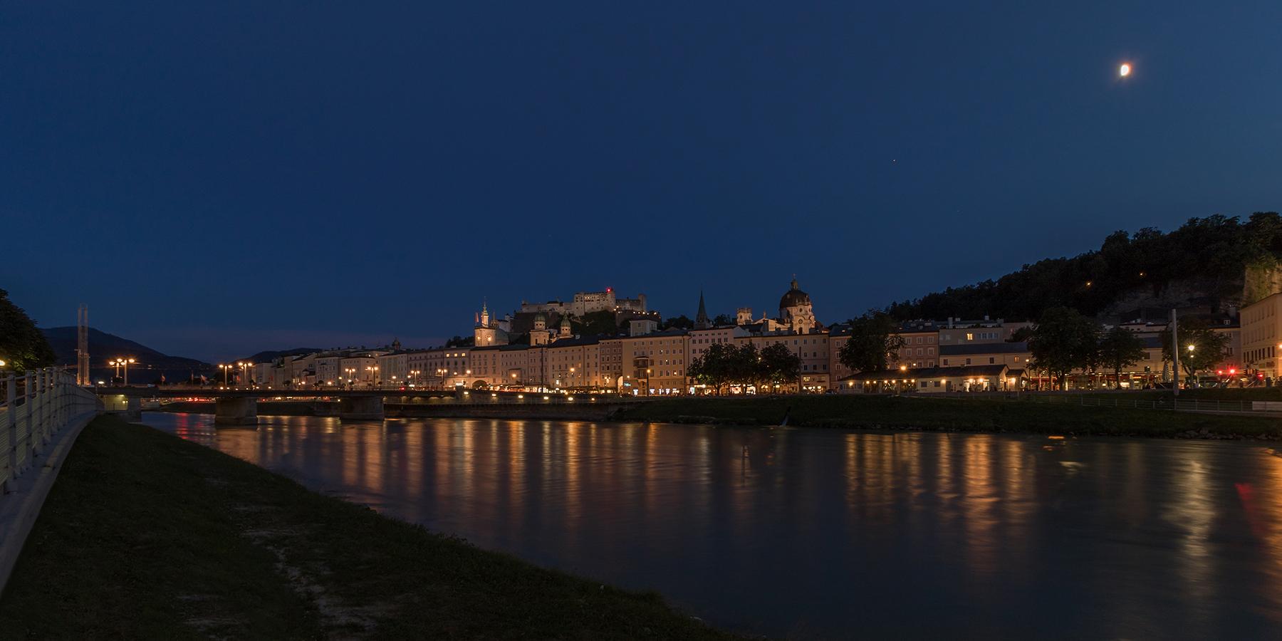 Blick auf Salzburg ...