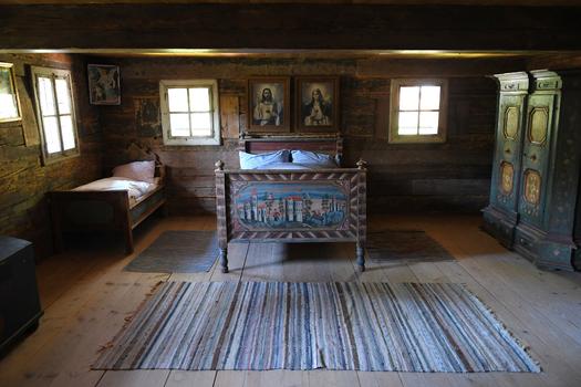 Schlafzimmer, Lohnergütl / Flachgau (Freilichtmuseum Großgmain)