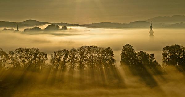 Nebel über Köstendorf