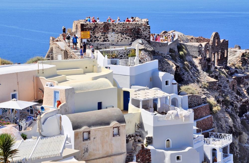 Best view - Ruine des Kastells von Argyri - Οία Thira