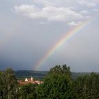 Regenbogen über Fürstenfeld