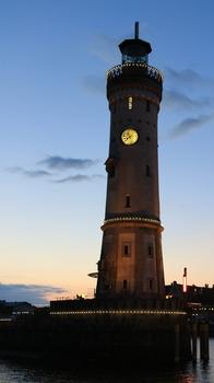 Der Leuchtturm vom Lindauer Hafen