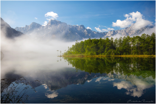 Almsee Morgennebel