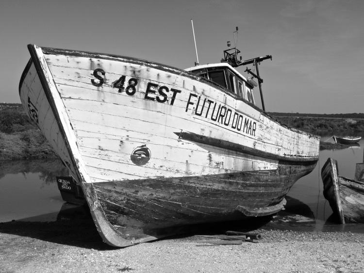 """Die Zukunft des Meeres"" (Name dieses Fischkutters)"