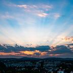Sonnenunterganng über dem Wienerwald