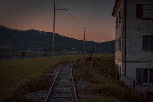 Sonnenuntergang Aufnahme in Lustenau
