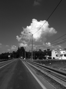 In die Wolken