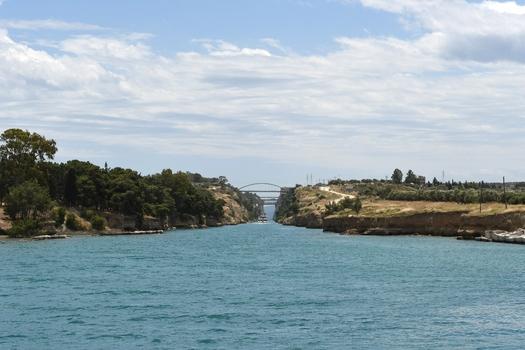 Kanal von Korinth, Bilckrichtung Osten