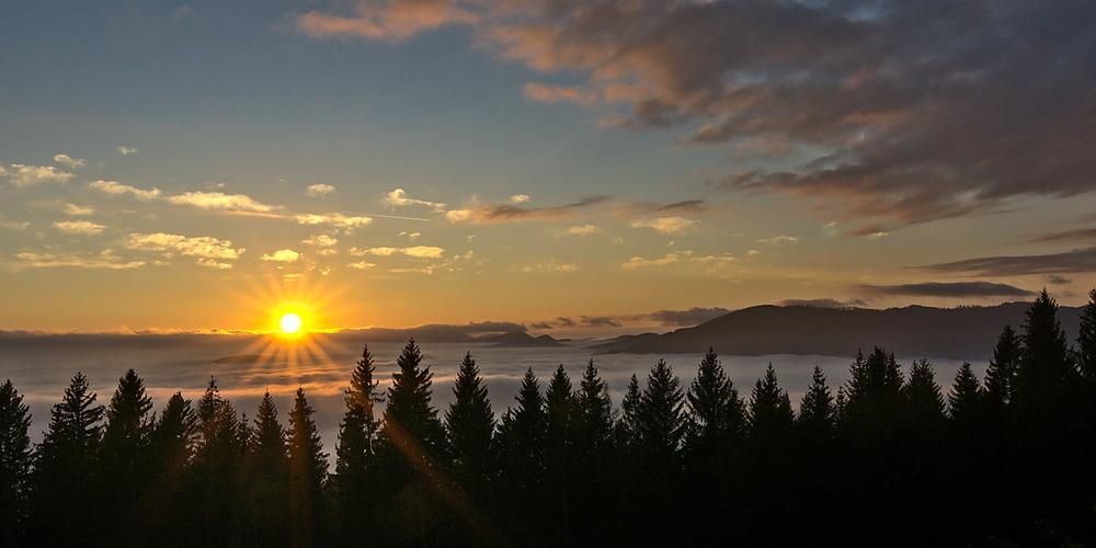 Sonnenuntergang Rabenwald