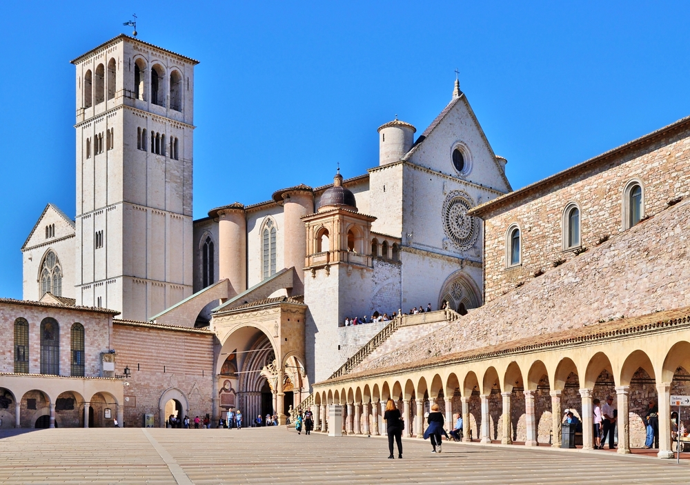 Basilika San Francesco / Assisi / Umbrien / Italien