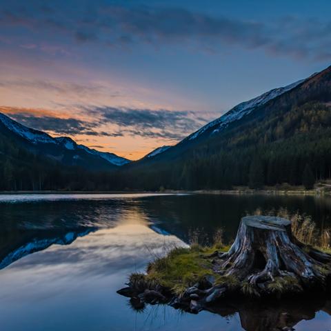 Sonnenuntergang am Ingeringsee