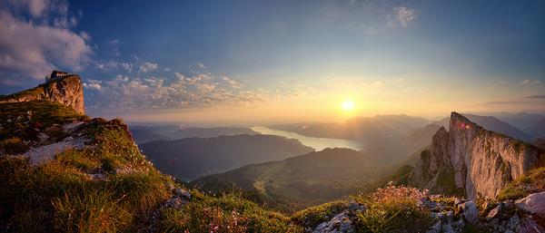 Sonnenaufgang auf der Schafbergspitze