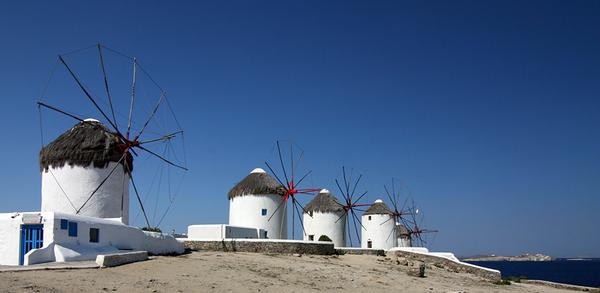 Mykonos III - die Windmühlen