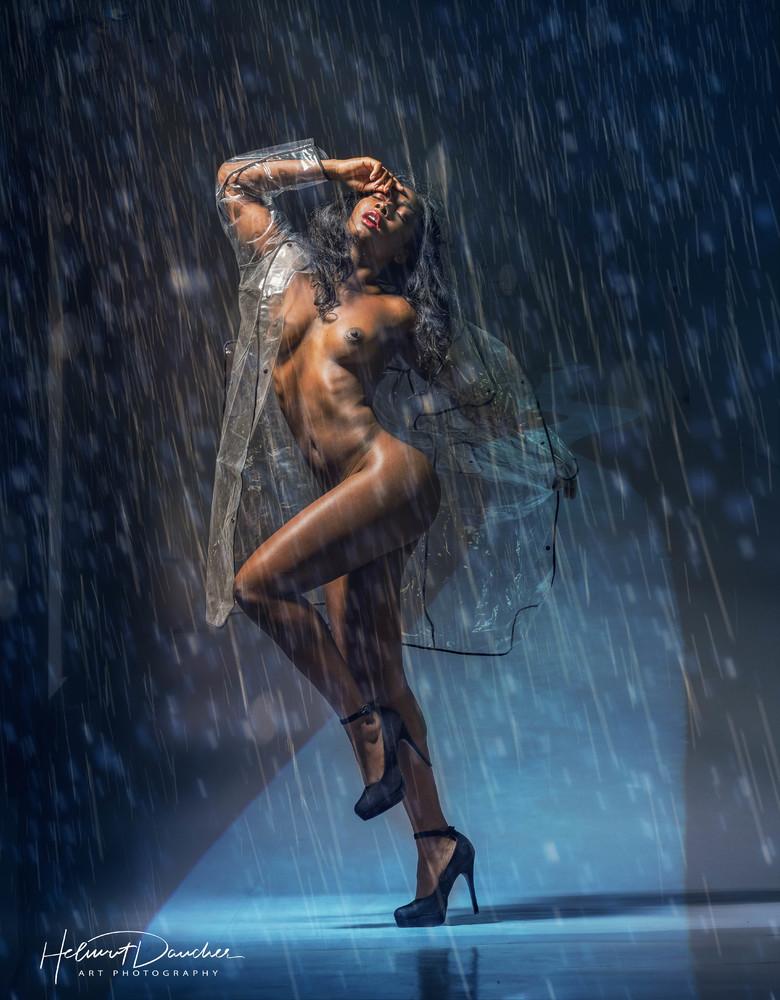 catwalk in the rain