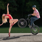 ballerina and bike