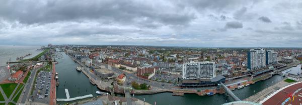 Blick über Bremerhaven
