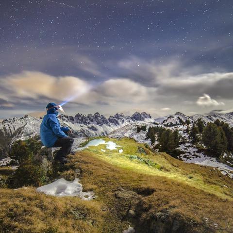 Nachts in den Tiroler Bergen