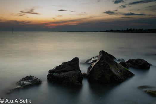 Grado, Sonnenuntergangsstimmung und das Meer