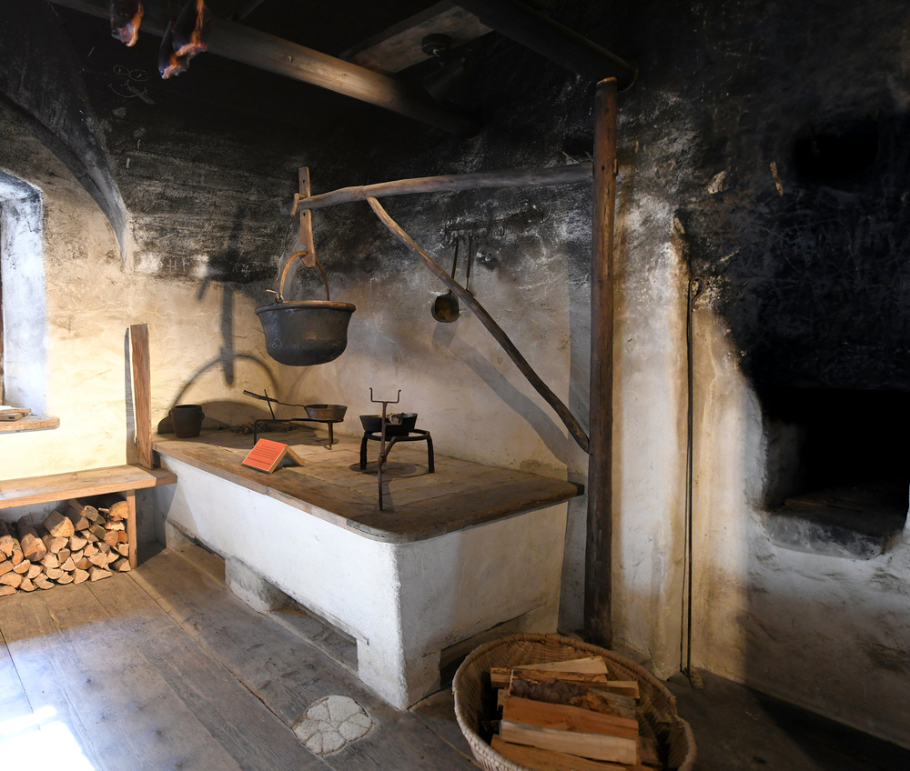 Rauchkuchl, Lärchenhaus (Freilichtmuseum Großgmain)
