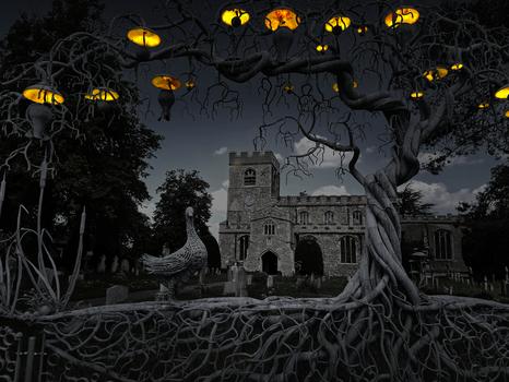 Girton (Cambridgeshire) Kirche - Gespenstische Stimmung