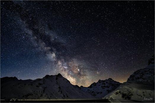 Sternenhimmel über dem Piz Buin