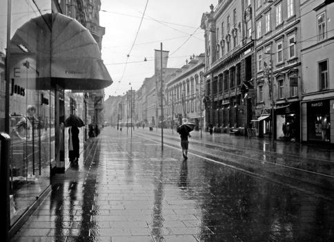 Regen in Graz