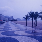 DIE PRACHTSTRASSE AVENIDA ATLANTICA IN RIO DE JANEIRO VOR CA. 40 JAHREN